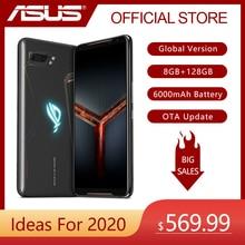 ASUS ROG telefon II (ZS660KL) strix Edition oyun telefonu küresel sürüm 8GB 128GB Snapdragon 855 artı 6000mAh NFC OTA güncelleme