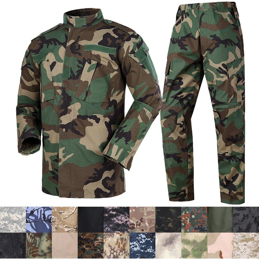 Mege camuflagem exército tático militar uniforme combate assualt roupas forças especiais acu bdu militar uniformes airsoft paintball