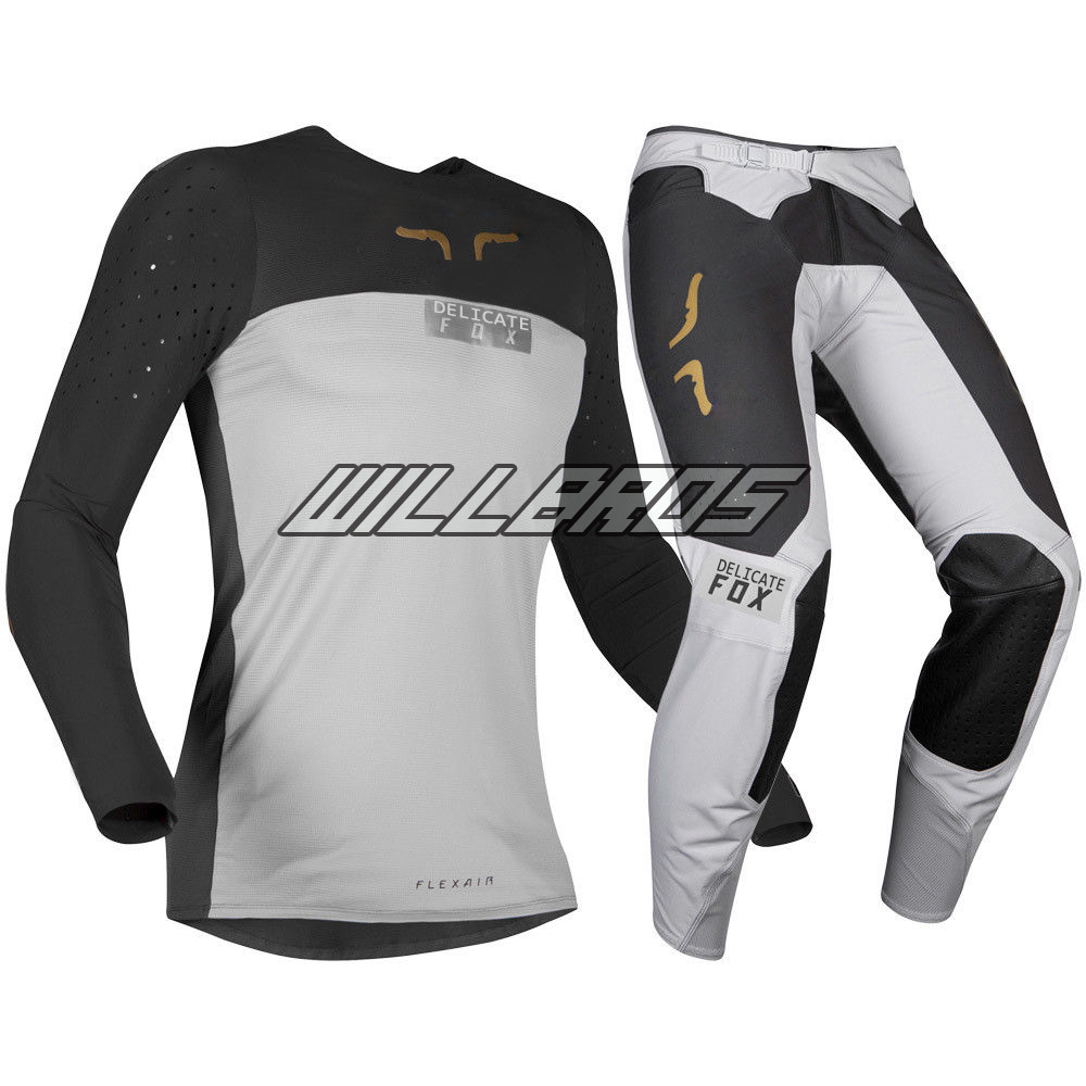 Latest Model 2019 Grey FLEXAIR ROYL Jersey Pant Combo MX ATV OFFROAD Motocross Kit Combo Gear Set