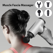 Massage gun deep tissue percussion pain relieves body neck muscles massage exercises relaxes thin body shaping fascia 2021 NEW