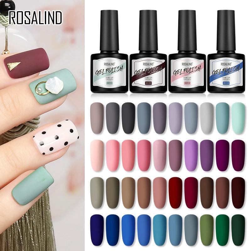 ROSALIND 8 мл матовое верхнее покрытие Гель-лак для ногтей все для маникюра УФ-гель гибридные Лаки отмачиваемый дизайн ногтей полуперманентное ...
