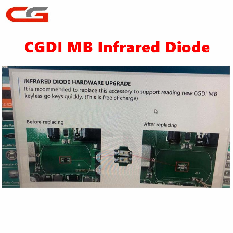 CGDI MB For Mercedes Benz CGMB CG MB Infrared Diode Chip Hardware Upgrade To Replace Infrared Diode