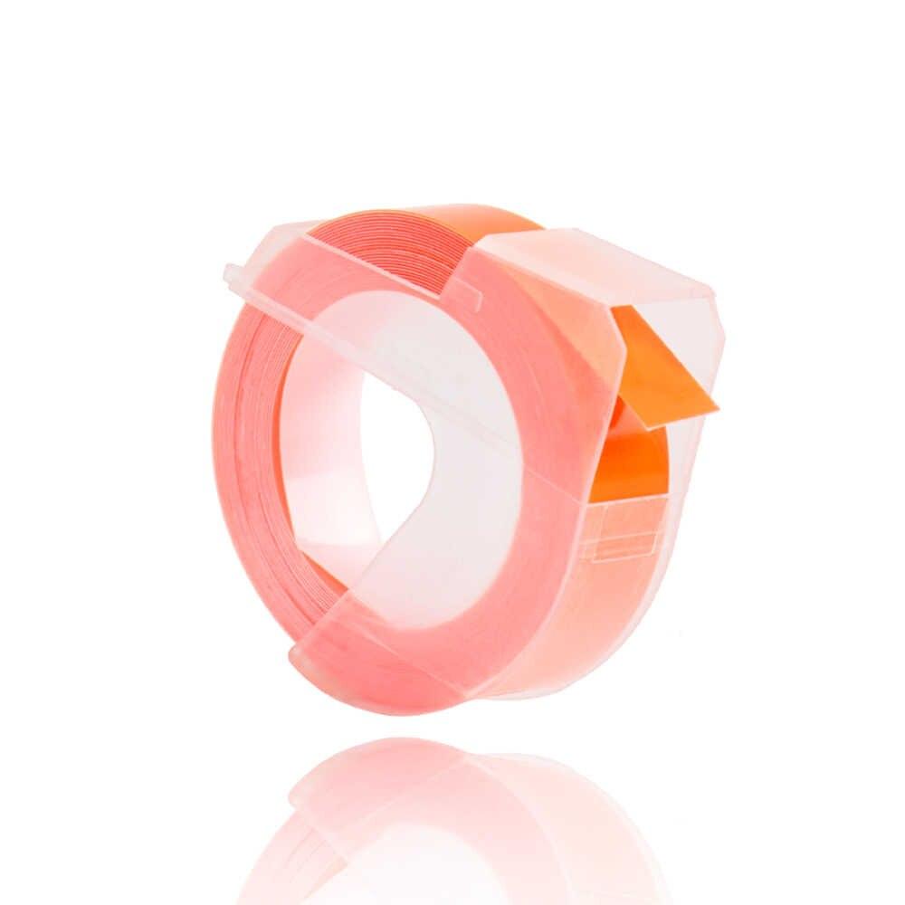 CIDY เรืองแสง orange สีสำหรับ DYMO 1610 12965 เครื่องทำฉลาก DYMO 3D พลาสติกลายนูน Xpress ป้าย 9 มม.MOTEX e101