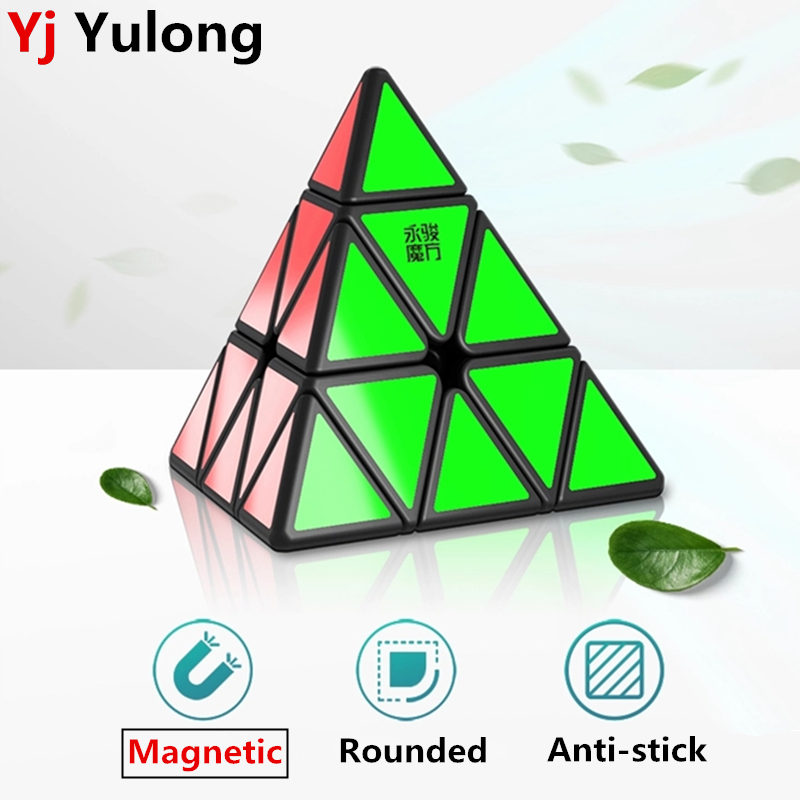 Yj Yulong V2M Magnetic Magic Pyramid Cube Stickerless Yongjun Magnets Triangle Puzzle Speed Cubes