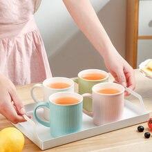 Красочная керамика 1/2 шт 300 мл кружки для домашнего кофе чая