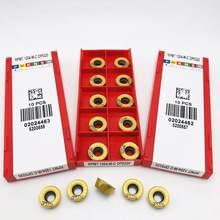 Inserts de tournage en carbure RPMT1204 MC DP5320, pièces de tour CNC, outils RPMT 1204, accessoires de machine-outil, inserts de fraisage RPMT