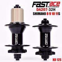 Bicycle hubs Fastace DA207 mountain bike disc brakes drum 32 holes 8 9 10 11 speed XD 12 speed ENDURO bearings PK D791SB D041SB