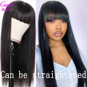 Image 5 - Cheap Body Wave Human Hair Wigs With Bangs Remy Hair Peruvian Body Wave Wigs Full Machine Made Wigs For Black Women 150% Density