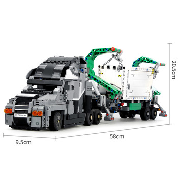 Technic Car Toys Compatible With Lepining mini 42078 Mack Big Truck Car Model Building Block Bricks Toys For Kids Christmas Gift 4