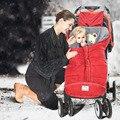 Теплый спальный мешок для коляски  синий  красный и белый  зимний спальный мешок для младенцев  102 см  шерстяной детский спальный мешок  конве...