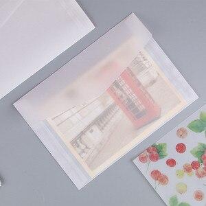 Image 2 - 50pcs Blank Doorschijnend Papier Envelop Vintage Enveloppen Voor Uitnodigingen Wedding Gift Card Envelop Postkaarten Brief Opbergtas