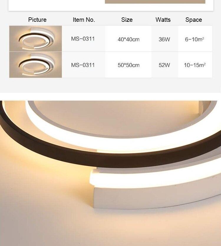 H7e7bed43814d4c939154e7fab5fd7740w LICAN Modern LED Ceiling Lights Living room Bedroom lustre de plafond moderne luminaire plafonnier White Black LED Ceiling Lamp