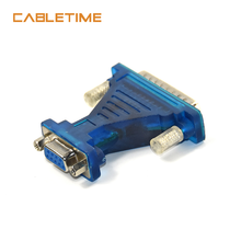 CABLETIME USB to Com USB to Serial RS232 Cable DB9 Female to 232 Female Adapter DB9 Converter Wholesale N16 usb 2 0 to dual com ftdi chip 2 port usb to serial rs232 db9 adapter cable win10
