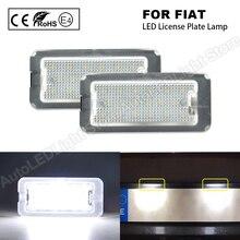 Para tablicy rejestracyjnej wolne od błędów 18 SMD LED światła lampy żarówki 6000K fajne auto akcesoria do marki Fiat 500 Abarth 500 2007 2020