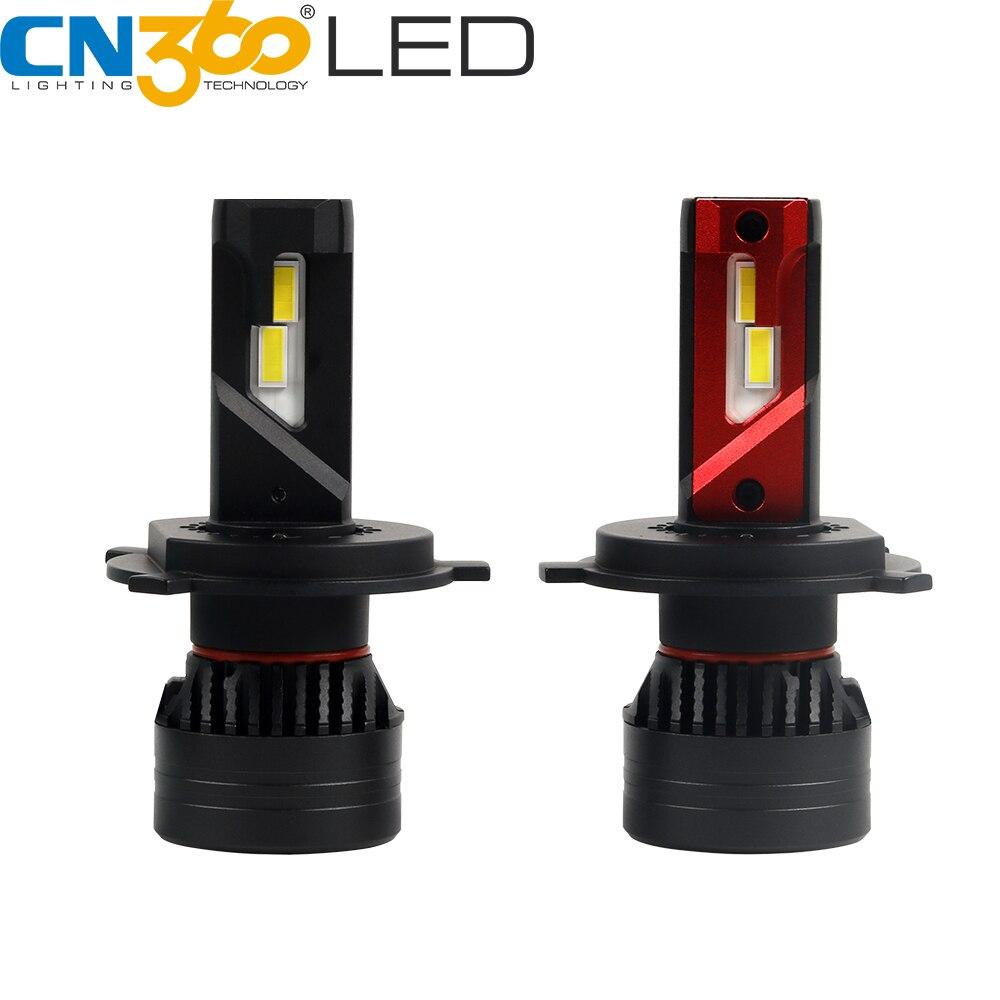 CN360 2 pièces H4 phare LED ampoule 9003 HB2 salut/Lo phare Canbus aucune erreur LED lumière de voiture Mini 45W 65000K 10000LM Super lumineux