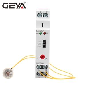 Image 2 - Darmowa wysyłka GEYA GRB8 01 szyna Din przełącznik zmierzchowy fotoelektryczny zegar czujnik światła przekaźnik AC110V 240V Auto ON OFF