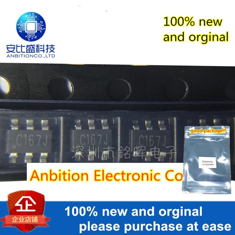 50pcs 100% New And Orgianl AZC199-04S.R7G Silk-screen C16 SOT23-6 ACZ199 In Stock