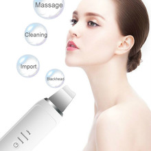 Ultrasonic Skin Scrubber Deep Cleaning Face Scrubber Vibrating Cleansing Skin Spatula Peeling Beauty Instrument Device EMS