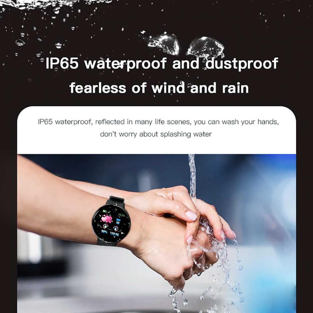 Rovtop D18 Smart Watch Pria Wanita Tekanan Darah Bulat Tahan Air Olahraga Smart Watch Kebugaran Tracker untuk Android IOS Z2