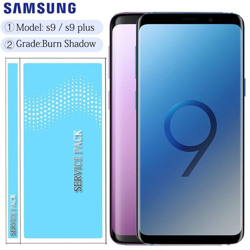 Оригинальный дисплей с ЖК дисплеем с рамкой для SAMSUNG Galaxy S9 G960 G960F S9 + Plus G965 G965F сенсорный экран дигитайзер Экраны для мобильных телефонов      АлиЭкспресс