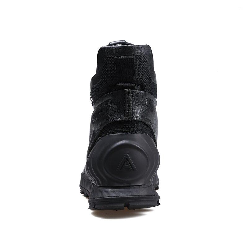 Зимние ботинки из натуральной кожи; мужские ботинки; модная обувь; мужская повседневная обувь в деловом стиле; зимние ботинки; zapatos de hombre - 4