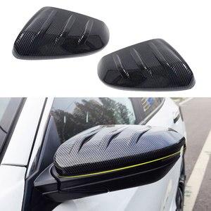 Image 1 - Preto 1 par de fibra carbono estilo porta lateral espelho retrovisor capa guarnição tampa apto para honda civic 2016 2017 2018 2019 2020