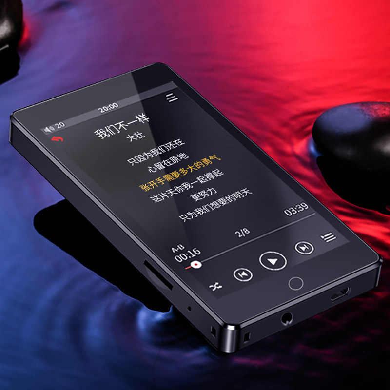 RUIZU H1 4 pulgadas pantalla táctil Bluetooth 5,0 MP3 reproductor con altavoz incorporado FM Radio grabación Video E-book
