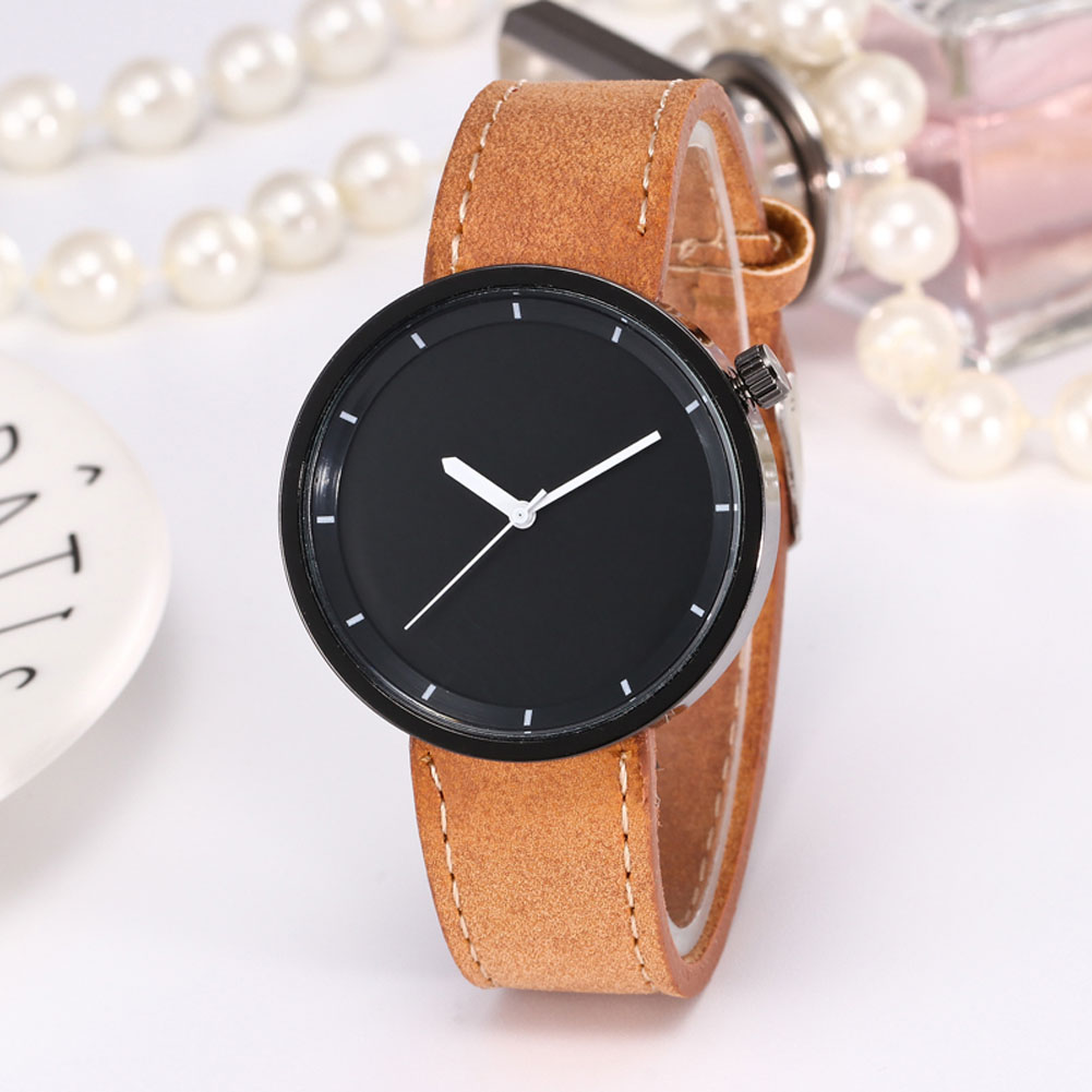 Men  Casual Quartz Watches Fashion Handsome Watches Round Dial Leather Strap Couple Watches LXH