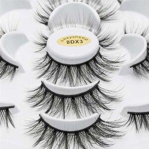 Image 3 - ISEEN 7 pairs natural false eyelashes fake lashes long makeup 3d mink lashes eyelash extension mink eyelashes for beauty