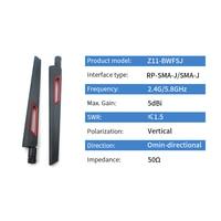 sma נקבה dual band 2pcs 2.4GHz 5.8GHz Wifi נתב אנטנה 2.4G 5.8G Dual Band אנטנות 5dBi עבור נתב משחזר מודם Antena SMA זכר נקבה אוויר (2)