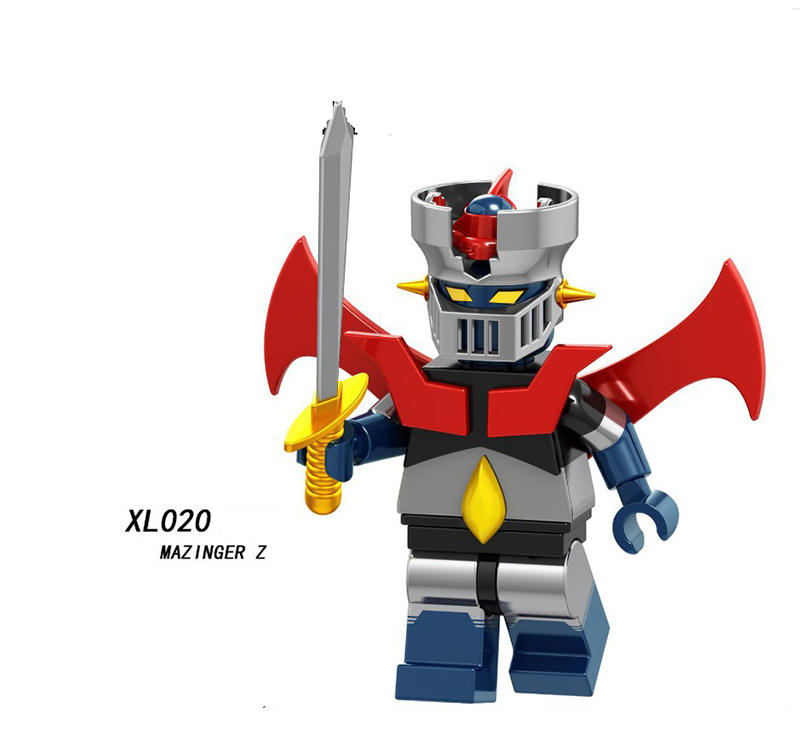 Single Sale Legoinglys Assemble Cartoon Movie Mazinger Z Minifigure Bricks Building Blocks Collection Diy Toys Baby Gift Xl020