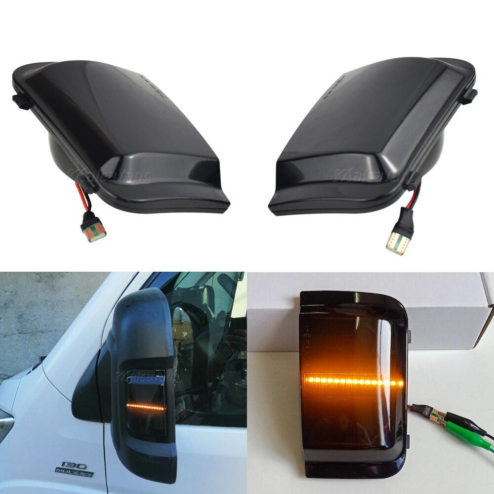 Боковое крыло зеркало заднего вида динамический индикатор потока Светодиодный светильник сигнала поворота для Peugeot Boxer Fiat Ducato Citroen Jumper