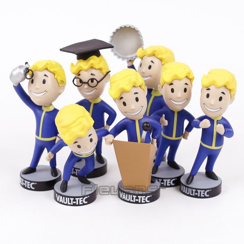 Precipitação vault menino bobble cabeça pvc figura de ação collectible modelo brinquedo 7 estilos
