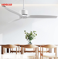 Indoor Kitchen Use Dc Wholesale 52inch 6 Color Ceiling Fan Without Light 110V 220V Ceiling Fan with Remote Control