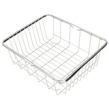 Deep & large dish drying rack expandable dishes drainer over