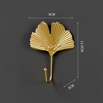 Leaves Shape Iron Hook Nordic Wall Decoration Leaf Key Watch Bags Jewelry Haning Hook Mutifuctional Wall Hanger Rack 17
