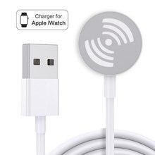 1 м/3,3 футов портативная беспроводная зарядная док-станция с USB-кабелем для умных часов Apple iWatch Series 6 5 4 3 2 ,Watchos 7,2