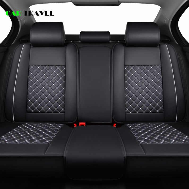 (Depan + Belakang) mewah Kulit Kursi Mobil Penutup 4 Musim Untuk Volkswagen VW Passat B5 B6 B7 Polo 4 5 6 7 Golf tiguan Jetta Touareg