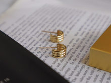 18k importação sólido amarelo ouro jóias (au750) feminino base de metal simples e delicado primavera corte brincos moda senhora