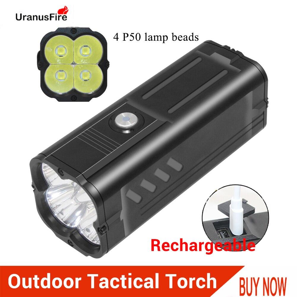 Mini luz LED XHP50 Ultra potente, batería integrada de 11000mah, linterna táctica recargable, linterna de 7000 lúmenes con llavero Linterna de luz de emergencia recargable multifunción LED 30/60/90 Mini 30 lámpara de luz LED de emergencia para campamento en casa al aire libre