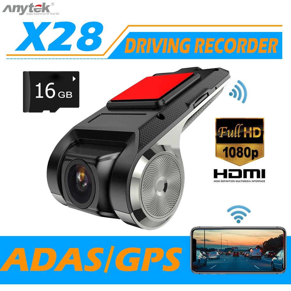 1080P FHD Car WIFI DVR 2MP Camera Video GPS Recorder ADAS G-Sensor Dash Cam USB
