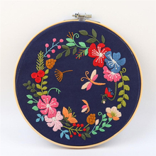New DIY Garland Embroidery Set With Embroidered Cloth & Thread Board & Needle &