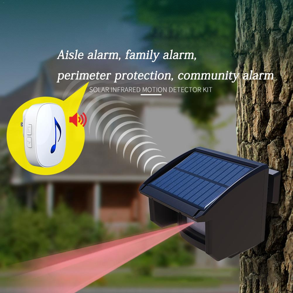 Newest High Quality Solar Outdoor Wireless Alarm System Outdoor Weatherproof Motion Sensor Security Alert System