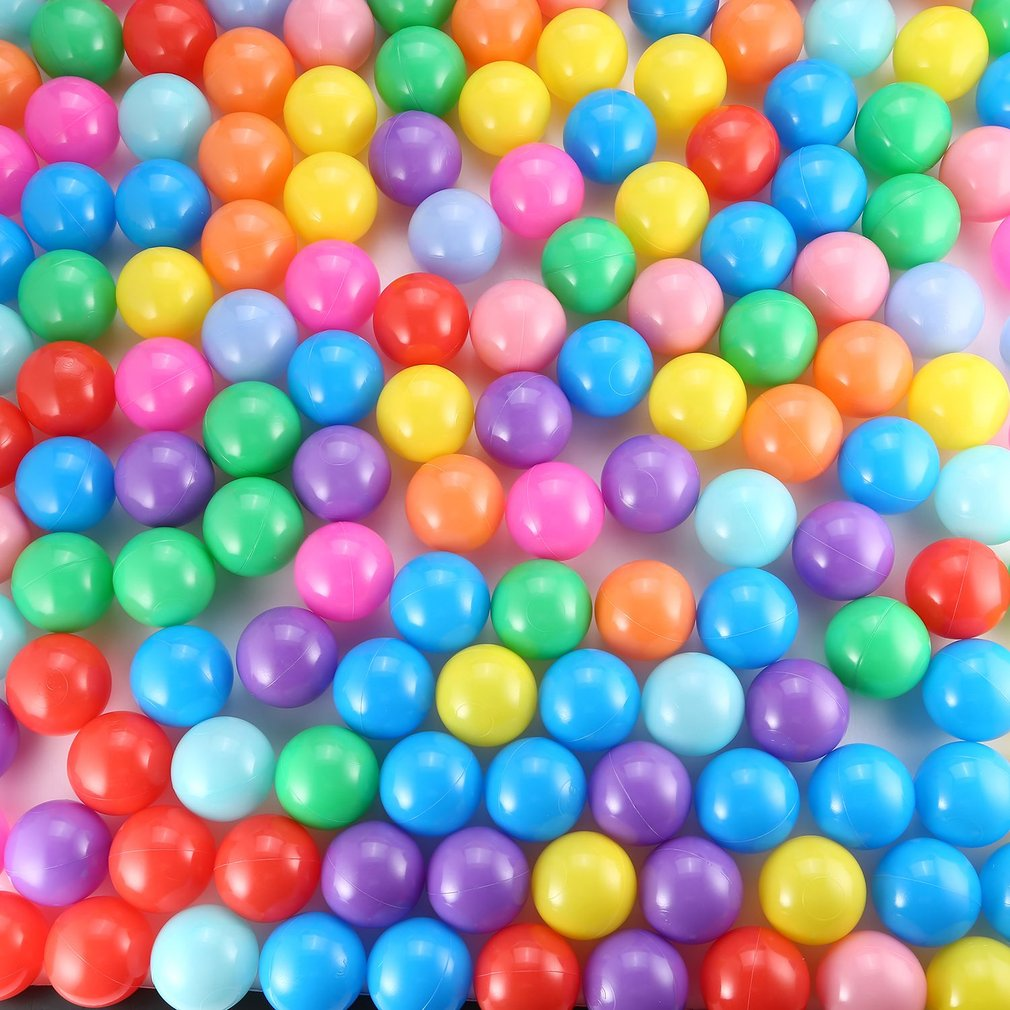 50/150 Pcs/lot Eco-Friendly Colorful Ball Soft Plastic Ocean Ball Funny Baby Kid Swim Pit Toy Water Pool Ocean Wave Ball Dia 7cm