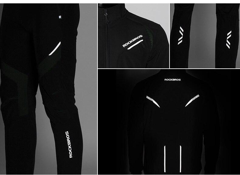 ROCKBROS Cycling Clothing Top/Pants Winter Thermal Fleece Cycling Pants Rainproof Windproof Cycling Jersey Men Women Sportswear