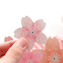 5pcs/lot Lovely Small Fresh Beautiful Cherry Blossoms Series Adhesive Stickers DIY Decoration Diary Stationery Gift