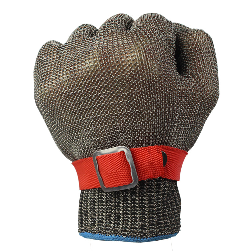 Image 2 - 5 Level Anti cutting Work Gloves Stainless Steel Wire Safety Gloves Safety Stab Resistant Work Gloves Cut MetalSafety Gloves   -