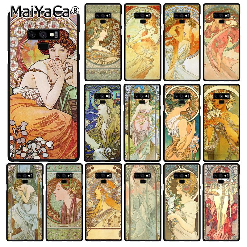 MaiYaCa art poster ALPHONSE MUCHA Phone Case For Samsung Galaxy A50 Note9 8 7 10 Pro 5 J5 J6 Prime J6plus J7DUO image