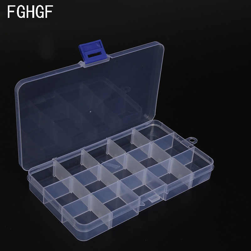 15 Cases Adjustable Plastic Fishing Box Lure Hook Tackle Storage Case Portable Tackle Multifunctional Organizer Fishing Boxes