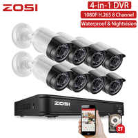 ZOSI 8CH 1080P TVI Nightvision Waterproof Bullet HDD Hard Disk Drive Security Video Camera DVR Kit CCTV Surveillance System